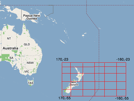 Selecting Location Data From A Spatial Database Tales From The Cloud - New zealand latitude